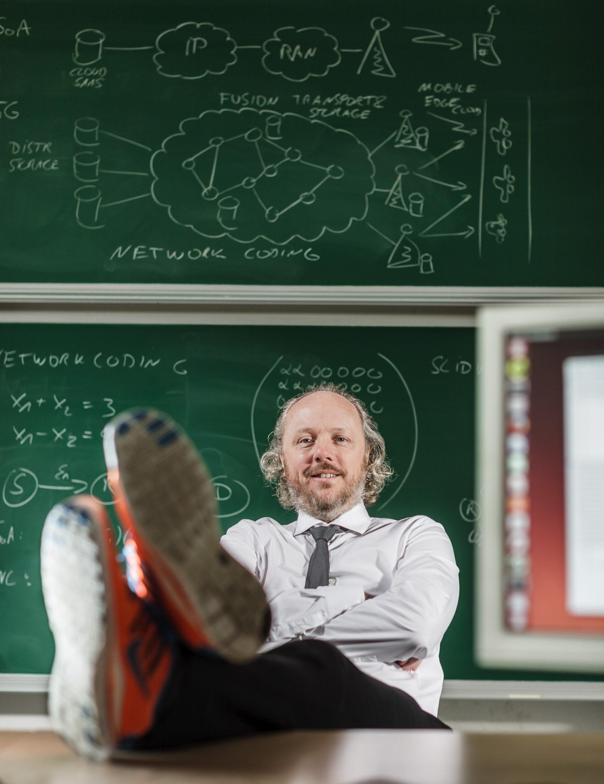 Cool, Forscher, Porträt, Skizze, Tafel, informatik, leger, professor, tu dresden, wissenschaftler